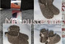 filtet, strikket og hæklet