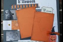 Halloween Layouts / Halloween Scrapbook Layouts
