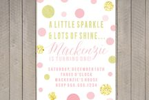 Sparkle and Shine / Charlotte's First Birthday (Never too early to plan...) / by Megan Jamison