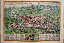 Rare Braun Hogenberg Rome City Map Roma Italy Italia Città Town Original Civitates Orbis Terrarum Mappa Originale by WorldFineArtGallery on Etsy