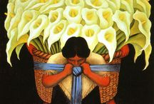 Diego Rivera / Diego Rivera (Guanajuato, 1886 — Ciudad de México, 1957) destacado muralista de ideología comunista, famoso por plasmar obras de alto contenido social en edificios públicos. Fue creador de diversos murales en México, Buenos Aires, San Francisco, Detroit y Nueva York. Fue el esposo de Frida Kahlo.