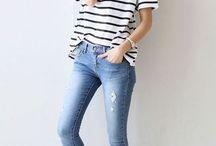 Jeans, preto e branco