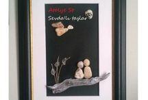 Atölye St Sevda`lı taşlar / Taş Boyama ve Taş sanatı