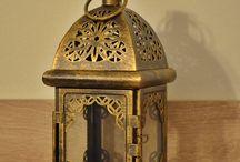 Vintage Moroccan Lantern /Metal Candle Holder
