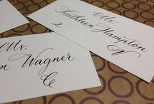 Calligraphy and Hand Lettering by Marcia Aronow / Calligraphy by hand for weddings or any other event!