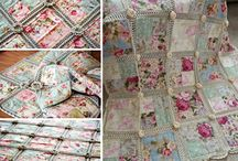 crochet and fabric quilts