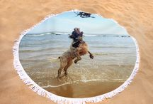"ROUND BEACH TOWELS - ITALIAN SPINONE / Here it is... the BEACH towel that's taking the internet by storm.   Italian Spinone round beach towels are 60"" in diameter and made from ultra-soft plush microfiber with a 100% cotton back.   Perfect for a day at the beach, a picnic, an outdoor music festival, or just general home decor.   This versatile summer essential is a must-have this season!"