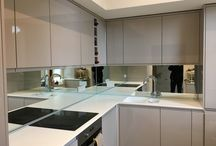 Glass Splashbacks / Most recent work in glass splashbacks for kitchen and bathroom areas.