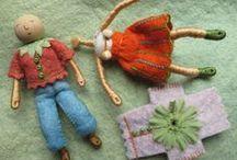 bamboline  con fil di  ferro