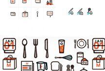 suseki - food icons, food design / иконки на тему еды