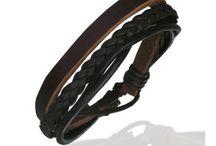 Zense - Bracelets en cuir pour homme