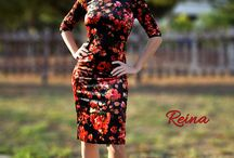 Floral tango dresses