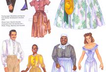 Paper Dolls - Movie Costumes / Fashions created for the movies.