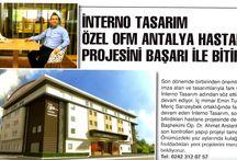 Basında INTERNO TASARIM / Antalya Basını...