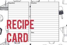 ☆ Printables & Bullet Journals / PRINTABLES Printable planners, schedulers, calendars Bullet journal ideas Journaling Printable recipe cards, meal planners