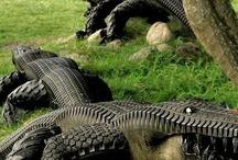 decoración neumáticos