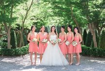 Beaulieu Garden St Helena Wedding / napa wedding beaulieu nancy liu chin coral flowers coral wedding hanging globes outdoor wedding