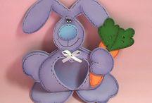 Idee creative primavera fommy e feltro | Idee Creative in Bottega / Tante idee creative per la primavera e per la Pasqua realizzate in gomma crepla.