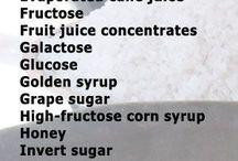 Sugar synonyms on food labels