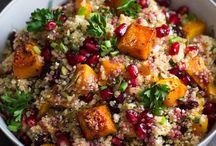 Quinoa, bulgur, byggryn