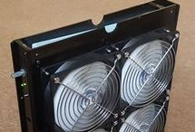 Box fan air filter purifier