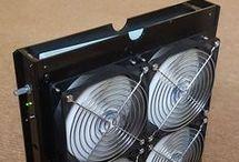 Box fan air filter purifier