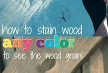 how to paint stain wood