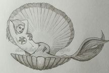 mermaid drawings