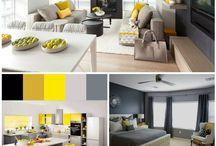 Цвет в интерьере, интерьер квартир