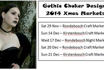Christmas markets 2014 / Information about Gothic Choker Designs end of year markets for 2014