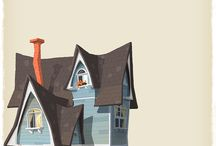 домики иллюстрации