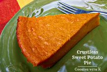 Thanksgiving Sweet Potato Pie / just some different shots to look at