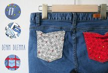 Denim Dilemma / Denim Dilemma is a whimsical collection with a nod to the struggle of finding that perfect pair. We have all been there, we should embrace the journey! Designed by Carla Koala