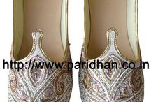 Wedding Footwear / These indian wedding footwear also named mojaris are best suited to wear with Sherwani,Jodhpuri suit,Indowestern.It is the best option for elegant look at bottom.
