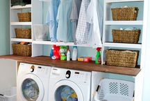 Laundry Room Organization / Ways to organize a laundry room.