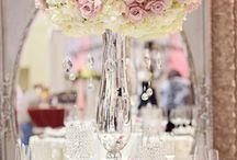 Dekoracja sali - różowa, pastelowa