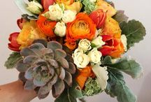 Wedding on 12th Oct 2014 / Bright colours with succulent.