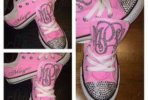Rhinestone Bling Sneakers
