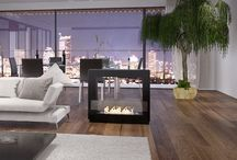 Ethanol Fireplace / An AFIRE electronic and remote controlled ethanol fireplace is more innovative and is smarter than all the others. Make no mistake, AFIRE bio fireplaces are bring together both technology and design. Traditional wood or gas rustic fireplaces tend to disappear to make way for a new generation of exclusive items: wall mounted fireplace, table fireplace, free standing fireplace,  bio fireplace embedded into the floor or in furniture, central fireplace, corner fireplace…