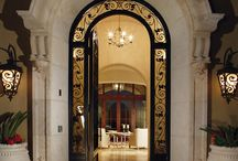 Luxury Doors in Scottsdale AZ / Scottsdale has some of the most luxurious homes in the country. Check out some of the most beautiful doors and entrances in Scottsdale AZ. These beautiful entrances include iron doors, glass doors and impressive foyers.