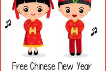 February themes: Chinese New Year and Valentine's Day
