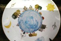 pintado a mão / Pintura em porcelana