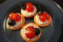 Coccinelle / Tomates cerises