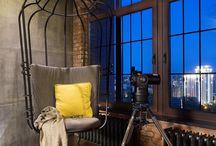 loft·y design / Interior design of artist lofts; raw-industrial to industrial-chic