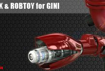 3D Robot Gini Sci-Fi / Killex and RobToy