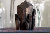 wood walnut handmade Crystals