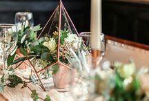 Geometric inspired wedding /