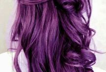 hair violet purple