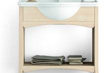 Scandola Mobili Bagno / Mobili da bagno interamente realizzati in abete massiccio, a marchio Scandola Mobili