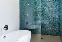 Inspiration: Teal and Aquamarine. Ideas for tiles, bathrooms and interior design. / Inspiration for your teal themed projects. Bathroom, kitchen, tile, interior design ideas. Visit us at ROCCIA to assist you in creating your dream room. www.roccia.com